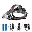 povoljno Naušnice-U'King Svjetiljke za glavu Svjetlo za bicikle 2000 lm LED LED 3 emiteri 4.0 rasvjeta mode s baterijama i punjačima Kompaktna veličina Jednostavno za nošenje Kampiranje / planinarenje / Speleologija