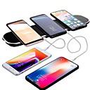 povoljno Bežični punjači-Bežični punjač USB punjač Univerzalno QC 3.0 2 USB portova 5 A DC 24V za iPhone X / iPhone 8 Plus / iPhone 8