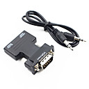 ieftine HDMI-HDMI to VGA adapter HDMI 1.4 VGA / Audio de 3,5 mm Bărbați-Damă 1080P Scurt (Sub 20cm)