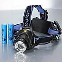 ieftine Frontale-Frontale Becul farurilor Rezistent la apă Reîncărcabil 1200 lm LED LED 1 emițători 3 Mod Zbor cu Baterii Rezistent la apă Zoomable Reîncărcabil Ajustabil Camping / Cățărare / Speologie Utilizare