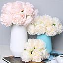 رخيصةأون أزهار اصطناعية-زهور اصطناعية 1 فرع كلاسيكي الزفاف Wedding Flowers الفاوانيا أزهار الطاولة