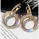 povoljno Naušnice-Žene Viseće naušnice asfaltirati Jednostavan Korejski Elegantno Bling Bling Svaki dan Imitacija dijamanta Naušnice Jewelry Zlato / Srebro Za Rođendan Dnevno 1 par