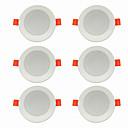 ieftine Becuri LED Încastrate-6pcs 5 W 360 lm 10 LED-uri de margele Ușor de Instalat Încastrat LED Tavan Alb Cald Alb Rece 220-240 V Acasă / Birou Living / Dinning / CE