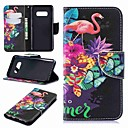 voordelige iPhone 6 hoesjes-hoesje Voor Samsung Galaxy S9 / S9 Plus / S8 Plus Portemonnee / Kaarthouder / met standaard Volledig hoesje Flamingo Hard PU-nahka