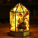 povoljno LED noćna rasvjeta-1pc LED noćno svjetlo Toplo bijelo Daljinski upravljano / Kreativan / Lijep