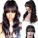 povoljno Ekstenzije za kosu-Virgin kosa 360 Frontalni Perika Asimetrična frizura stil Brazilska kosa Tijelo Wave Natural Perika 130% Gustoća kose Sigurnost Žene novi Prirodna linija za kosu 100% Djevica Žene Dug Perike s
