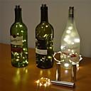 povoljno LED svjetla u traci-2m 6.56ft 20 led botella de vino luz de corcho estrellado luces de cadena de alambre de cobre para botella decoración de mesa diy fiesta de bodas de navidad con batería 1 paquete