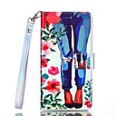 رخيصةأون إكسسوارات سامسونج-غطاء من أجل Samsung Galaxy Note 9 / Note 8 محفظة / حامل البطاقات / ضد الصدمات غطاء كامل للجسم زهور قاسي جلد PU