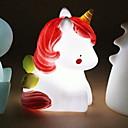 رخيصةأون ديكورات خشب-1PC Unicorn الصمام ليلة الخفيفة أبيض زر البطارية بالطاقة للأطفال / إبداعي <5 V
