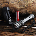 ieftine lanterne-UltraFire Lanterne LED Rezistent la apă 2000 lm LED LED 1 emițători 5 Mod Zbor Cu Baterie și Încărcător Rezistent la apă Zoomable Focalizare Ajustabilă Camping / Cățărare / Speologie Utilizare