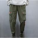 povoljno Muške majice i potkošulje-Muškarci Osnovni Dnevno Chinos / Cargo hlače Hlače - Jednobojni Crn Vojska Green XL XXL XXXL