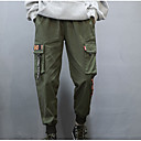 povoljno Men's Winter Coats-Muškarci Osnovni Dnevno Chinos / Cargo hlače Hlače - Jednobojni Crn Vojska Green XL XXL XXXL