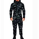 رخيصةأون جواكيت رجالي-هوديي / Activewear مجموعة رجالي مموه أساسي