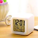 povoljno LED noćna rasvjeta-7 boja vodio promjenu digitalne budilice stol termometar noć glowing kocka LCD sat