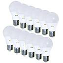 povoljno Oprema za igre na smartphoneu-EXUP® 12pcs 5 W LED okrugle žarulje 450 lm E26 / E27 15 LED zrnca SMD 2835 Kreativan Divan 85-265 V