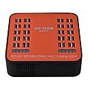 رخيصةأون شواحن USB-شاحن يو اس بي SR-1008LS 6 مكتب محطة شاحن شاشة LCD / تصميم جديد / مع تحديد الذكية مقبس أمريكي / موصل الاتحاد الأوروبي / مقبس إنجليزي محول الشحن
