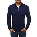 abordables Pulls & Cardigans pour Homme-Homme Quotidien Couleur Pleine Manches Longues Mince Normal Pullover Pull pull Noir / Gris Foncé / Bleu Marine L / XL / XXL