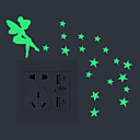 povoljno Ukrasne naljepnice-Light Switch Naljepnice - Svjetleće zidne naljepnice Vile Unutrašnji / Outdoor