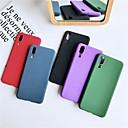 رخيصةأون Huawei أغطية / كفرات-غطاء من أجل Huawei Huawei P20 / Huawei P20 lite / Mate 10 مثلج غطاء خلفي لون سادة ناعم TPU