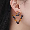 povoljno Druge maskice-Žene Viseće naušnice Geometrijski pomodan Moda Moderna Naušnice Jewelry Crn / Braon Za Kauzalni Rad 1 par