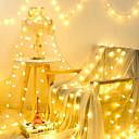 povoljno LED svjetla u traci-10m Žice sa svjetlima 100 LED diode Toplo bijelo Ukrasno 220-240 V 1set