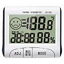 povoljno CCTV sustavi-kućni prikaz temperature higrometar sat vrijeme korištenje vlage mjerač dc102