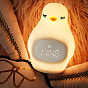 رخيصةأون ديكورات خشب-1PC كتكوت الصمام ليلة الخفيفة أصفر بطاريات آ بالطاقة / USB للأطفال / إبداعي 5 V