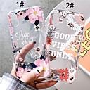 رخيصةأون أغطية أيفون-غطاء من أجل Apple iPhone XS / iPhone XR / iPhone XS Max شفاف / نموذج غطاء خلفي زهور ناعم TPU