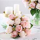 رخيصةأون أزهار اصطناعية-زهور اصطناعية 1 فرع كلاسيكي الزفاف Wedding Flowers الورود أزهار الطاولة