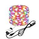 رخيصةأون LG أغطية / كفرات-zdm 10 متر / 33 ft 100 المصابيح أضواء أسلاك النحاس للماء خرافية سلسلة الاتحاد الأوروبي / الولايات المكونات مع التبديل استخدام مباشرة ac85-265v