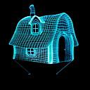 povoljno Dekoracija doma-1pc LED noćno svjetlo AA baterije su pogonjene New Design / Promjenjive boje 5 V