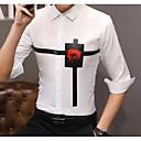 رخيصةأون حالات / أغطية ون بلس-رجالي أساسي قميص, لون سادة / هندسي / كم طويل