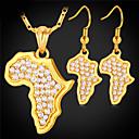 povoljno Maske/futrole za Galaxy S seriju-Žene Sintetički dijamant Karte dame Afrika afrički Kristal Zlatno Umjetno drago kamenje Naušnice Jewelry Zlato / Pink Za Vjenčanje Dnevno