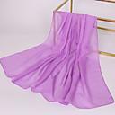 رخيصةأون أوشحة نسائية-مستطيل لون سادة نسائي شيفون, أساسي / قماش