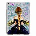 ieftine Carcase iPad-Maska Pentru Apple iPad Air / iPad (2018) / iPad Air 2 Scurgere Lichid / Model Capac Spate Femeie Sexy / Luciu Strălucire Greu PC / iPad 9.7 (2017)
