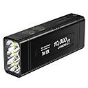 رخيصةأون Nokia أغطية / كفرات-Nitecore TM10K أضواء فلاش يدوية LED LED بواعث 1 إضاءة الوضع مع البطاريات والشاحن كوول Everyday Use