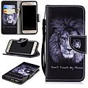 voordelige Galaxy A8 Hoesjes / covers-hoesje Voor Samsung Galaxy A3 (2017) Portemonnee / Kaarthouder / Schokbestendig Volledig hoesje Leeuw Hard PU-nahka