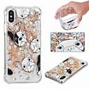رخيصةأون أغطية أيفون-غطاء من أجل Apple iPhone XS / iPhone XR / iPhone XS Max ضد الصدمات / سائل متدفق / شفاف غطاء خلفي كلب / بريق لماع ناعم TPU