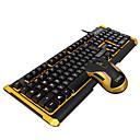 رخيصةأون لوحات المفاتيح-ZERODATE K12 USB سلكي كومبو لوحة المفاتيح الماوس جميل / 3Dكرتون / كوول لوحة المفاتيح مكتب مضيء لعب الفأر / ماوس مكتب 5500 dpi الألعاب