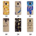 رخيصةأون صنادل حافي القدمين-غطاء من أجل Samsung Galaxy A6 (2018) / A6+ (2018) / Galaxy A7(2018) نموذج غطاء خلفي مأكولات / جملة / كلمة / الريش ناعم TPU