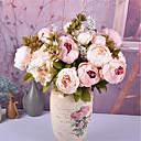 voordelige Kunstbloemen-Kunstbloemen 1 Tak Klassiek Europees Bruidsboeketten Pioenen Bloemen voor op tafel