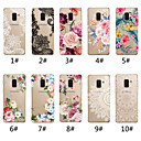 cheap Huawei Case-Case For Samsung Galaxy A5(2018) / A6 (2018) / A6+ (2018) Transparent / Pattern Back Cover Lace Printing / Flower Soft TPU