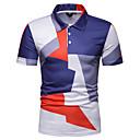 povoljno Muške polo majice-Veličina EU / SAD Polo Muškarci Dnevno Geometrijski oblici Kragna košulje Slim Plava / Kratkih rukava
