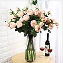 voordelige Kunstbloemen-Kunstbloemen 1 Tak Klassiek Europees Pastoraal Stijl Camellia Bloemen voor op tafel