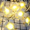 povoljno LED svjetla u traci-3M Žice sa svjetlima 20 LED diode Toplo bijelo Ukrasno AA baterije su pogonjene 1set