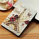 voordelige Samsung-hoes voor tablets-hoesje Voor Samsung Galaxy Tab S4 10.5 (2018) / Tab A2 10.5(2018) T595 T590 / Tab E 9.6 Portemonnee / Kaarthouder / met standaard Volledig hoesje Eiffeltoren Hard PU-nahka