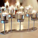رخيصةأون Home Fragrances-الحديث المعاصر / أسلوب بسيط زجاج / الحديد Candle Holders حداثة / عيد ميلاد / شمعدان 1PC, شمعة / حامل شمعة
