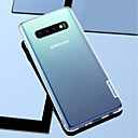cheap Galaxy S Series Cases / Covers-Case For Samsung Galaxy Galaxy S10 / Galaxy S10 Plus / Galaxy S10 E Shockproof / Transparent Back Cover Solid Colored Soft TPU