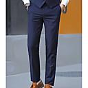 povoljno odijela-Muškarci Osnovni Veći konfekcijski brojevi Dnevno Odijelo Hlače - Jednobojni Red Navy Plava Sive boje 34 36 35