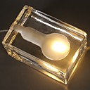 povoljno Kuhijnski alati-1pc Kocke leda LED noćno svjetlo Žuto DC Powered Kreativan 220-240 V